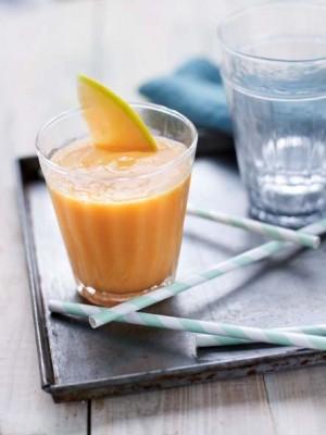 Smoothie au melon de Guadeloupe & miel © JC Amiel – Orathay Souksisavanh – Melon de Guadeloupe IGP