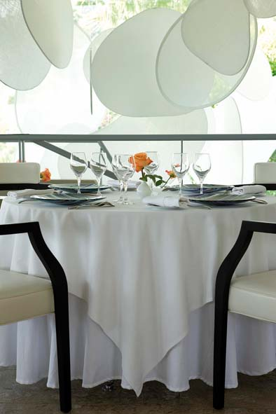 Table de restaurant Mirazur
