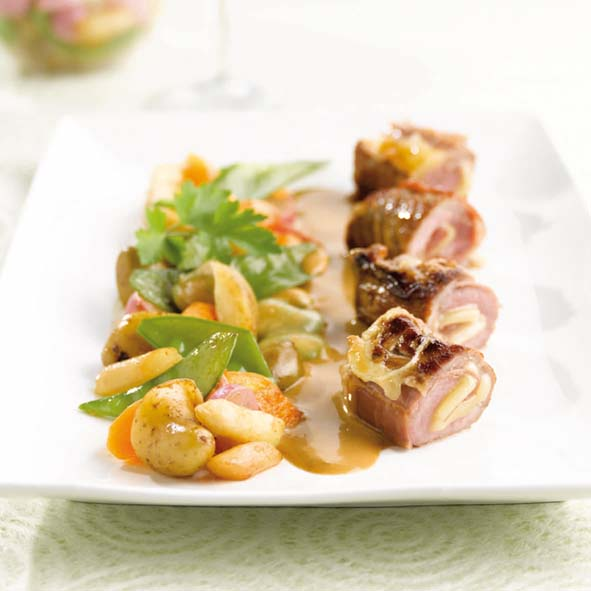 saltimbocca de veau au comt l gumes jus de truffe savoir. Black Bedroom Furniture Sets. Home Design Ideas