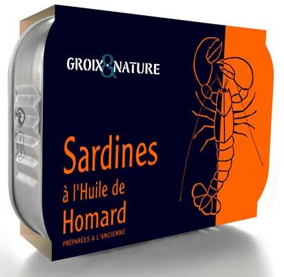 Boîte de sardines à l'huile de homard (4,50 €).