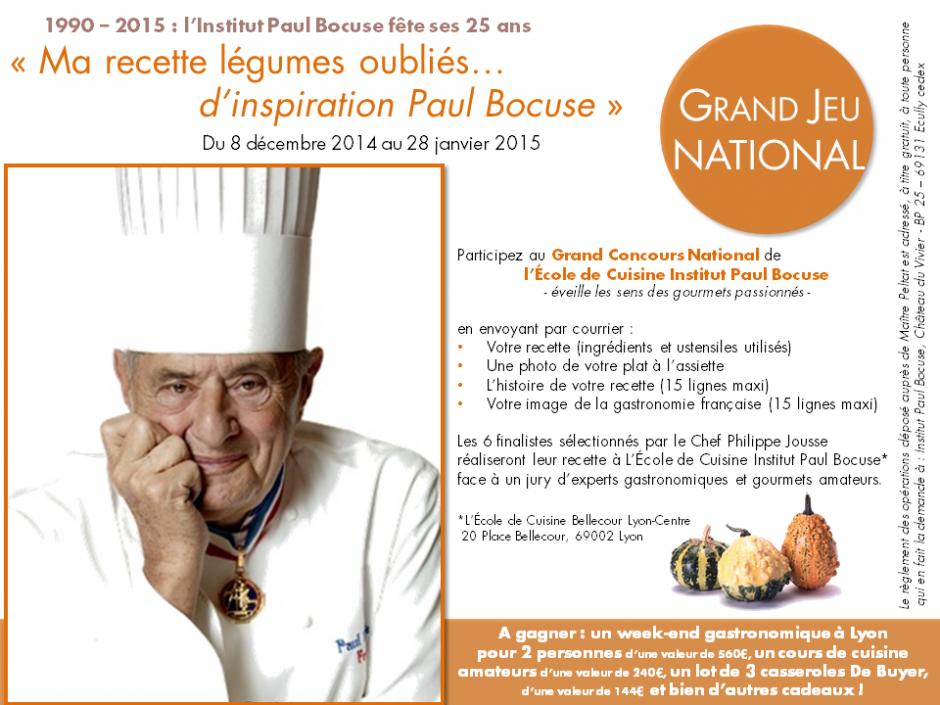 Ma recette l gumes oubli s d inspiration paul bocuse - Paul bocuse recettes cuisine ...