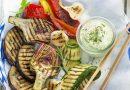 Légumes grillés, aïoli léger et crème au chorizo