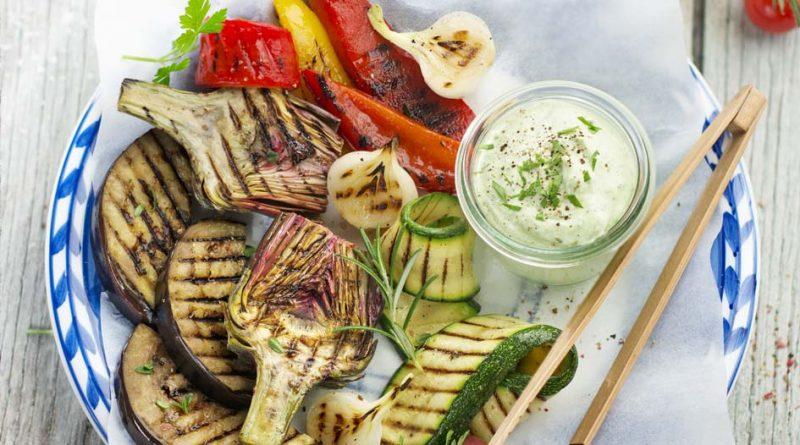 Légumes grillés, aïoli léger et crème au chorizo 2