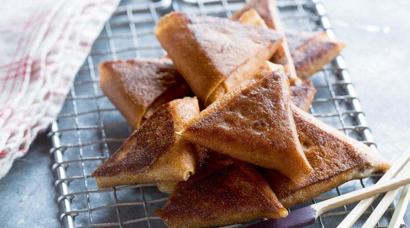 Samossas de crêpes jambon blanc-mascarpone