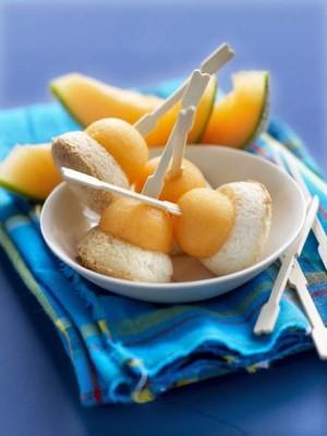 Rochers noix de coco et melon de Guadeloupe © JC Amiel / Laurence du Tilly / Melon de Guadeloupe IGP