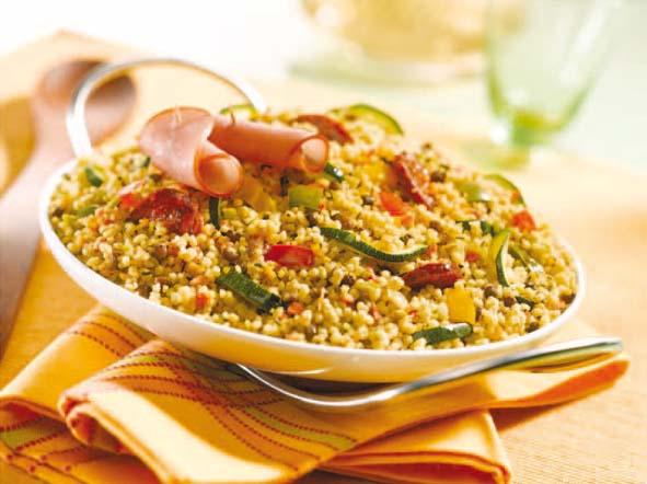 Méli-Mélo gourmand aux légumes, chorizo et bacon