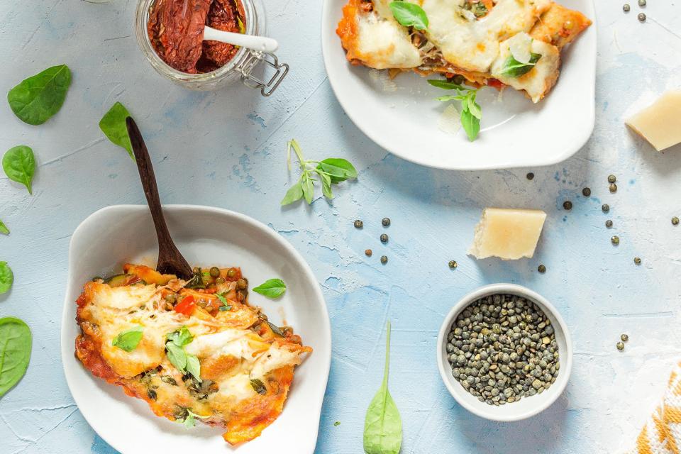 Lasagne v g tarienne aux lentilles vertes savoir - Cuisiner les asperges vertes fraiches ...