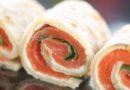 Petits canapés norvégiensau saumon fumé