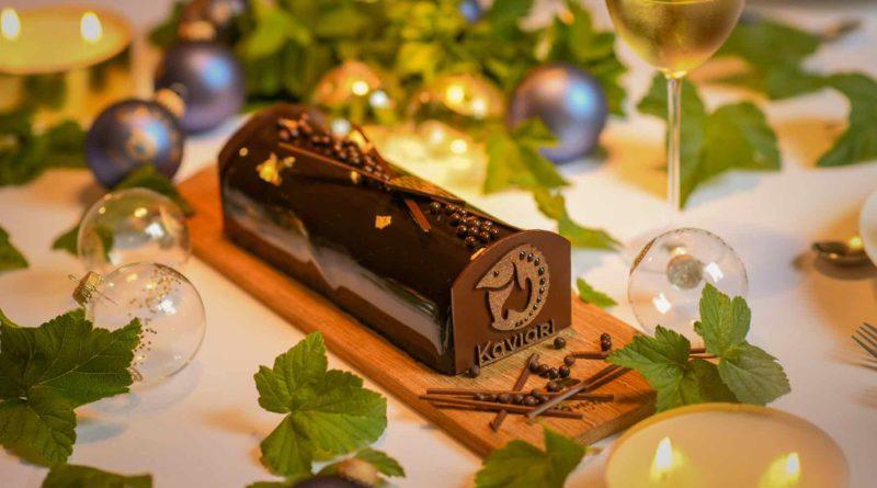 Kaviari et Bernachon créent une bûche de Noël chocolat-caviar
