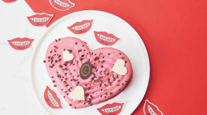 Pour la Saint-Valentin collection «Juste un baiser» chez Ladurée