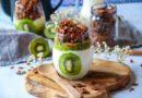 Verrines healthy au kiwi et son granola au chocolat