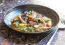 Casarecce, poulpe, tomate, gingembre, bouillon thaï