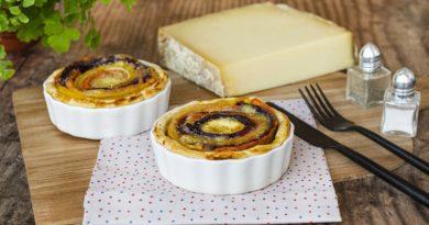 Tartelettes spirales aux carottes et Beaumont de Savoie